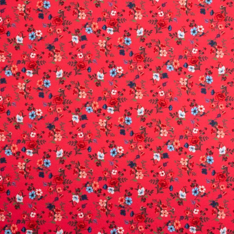 Tissu scuba grenadine imprimé petite fleur