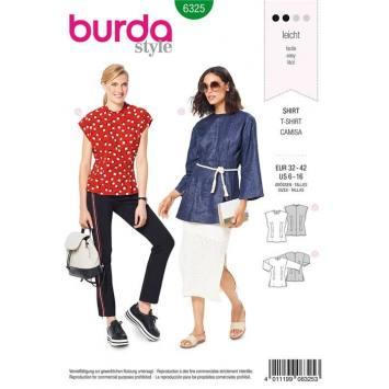 Patron Burda 6325 : T-shirt Taille : 32-42