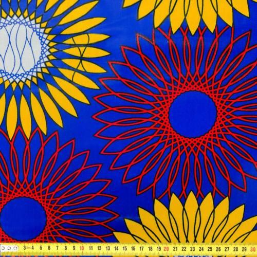 Wax - Tissu africain violet et jaune 290