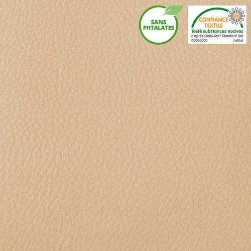 Simili cuir beige protection anti UV