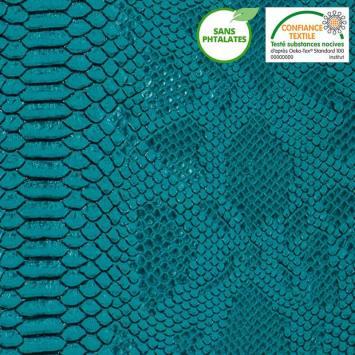 Simili cuir Dragon turquoise
