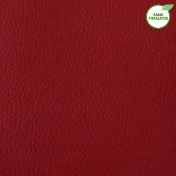 Simili cuir Karia rouge