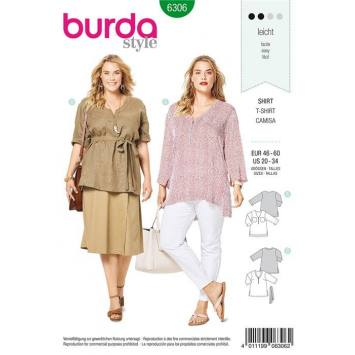 Patron Burda 6306 : T-shirt Taille : 46-60