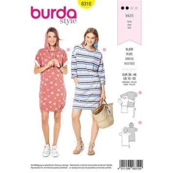 Patron Burda 6310 : Robe Taille : 36-46