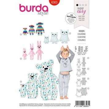 Patron Burda 6303 : Coussin
