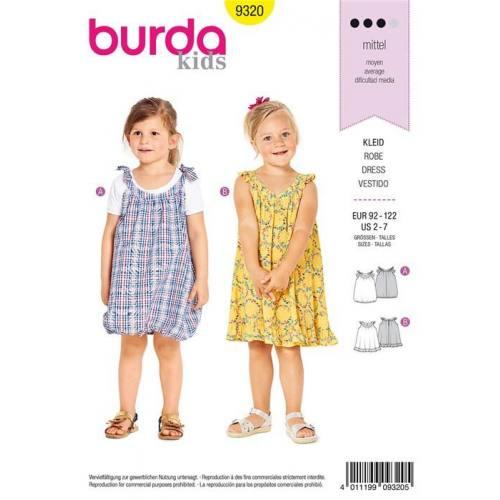 Patron Burda 9320 : Robe Taille : 92-122 cm