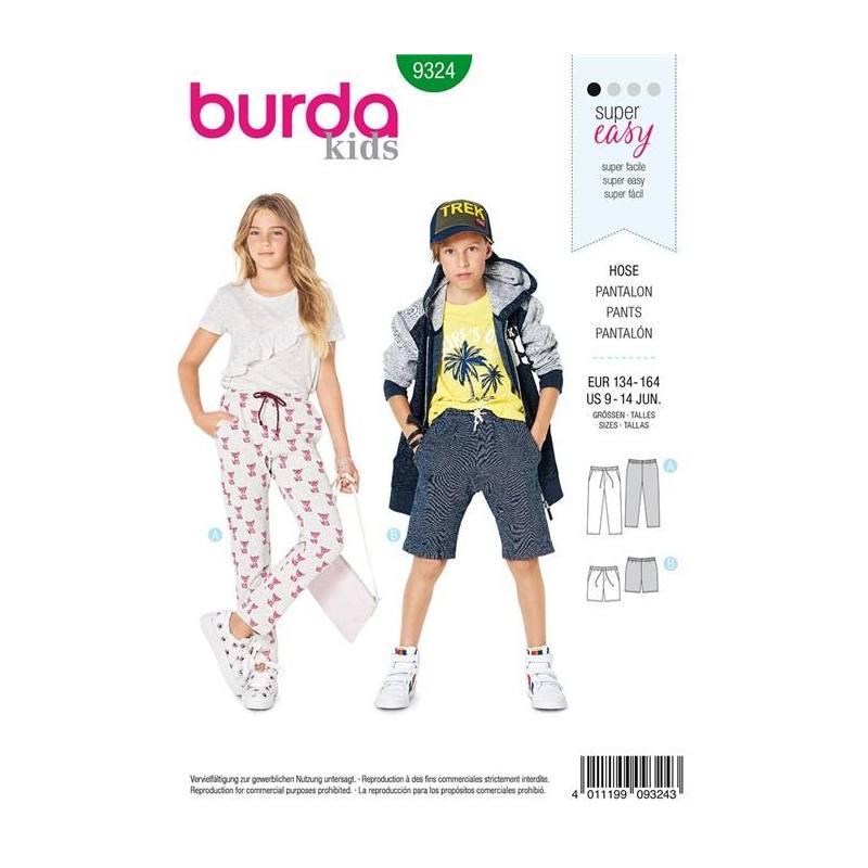 049679ae2130 Patron Burda 9324   Pantalon Taille   134-164 cm