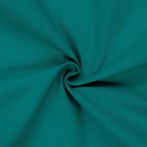 Toile coton demi-natté vert paon