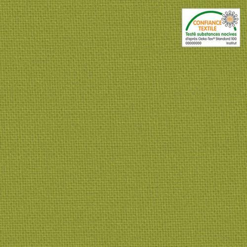 Toile coton verte pomme grande largeur
