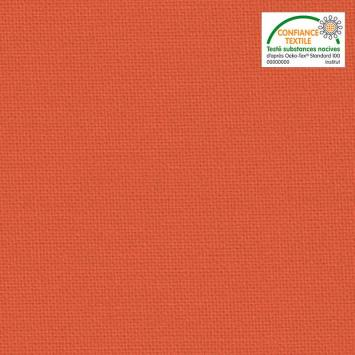 Toile coton orange grande largeur