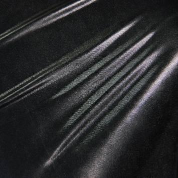 Lycra métallisé noir
