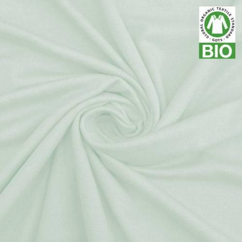 coupon - Coupon 45cm - Jersey uni bio vert d'eau