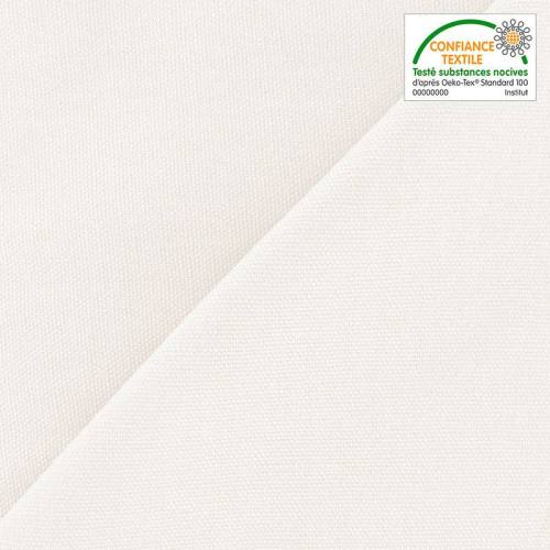 Toile coton canvas écrue