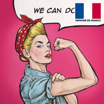 Coupon 45x45 cm toile canvas we can do it