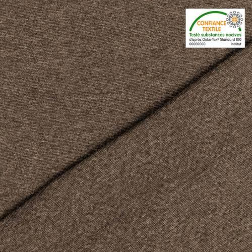 Tissu tubulaire bord-côte chiné brun grisé