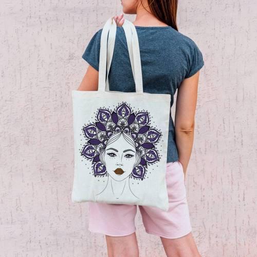Coupon 45x45 cm toile canvas couronne mandala