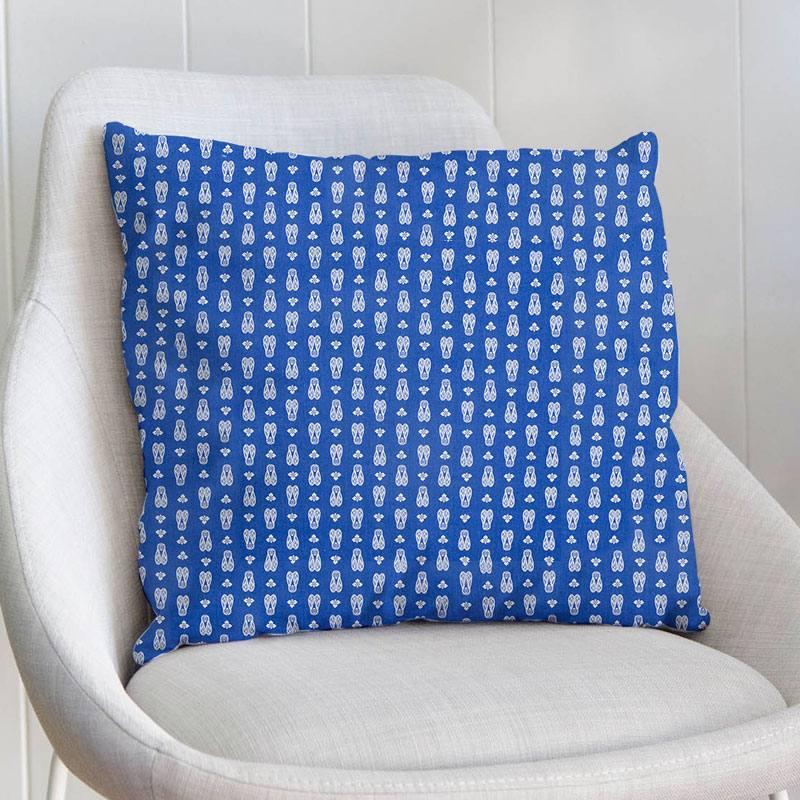 Coton bleu lavande imprimé cigale