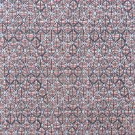 Jersey molleton motif feuille rose et marron