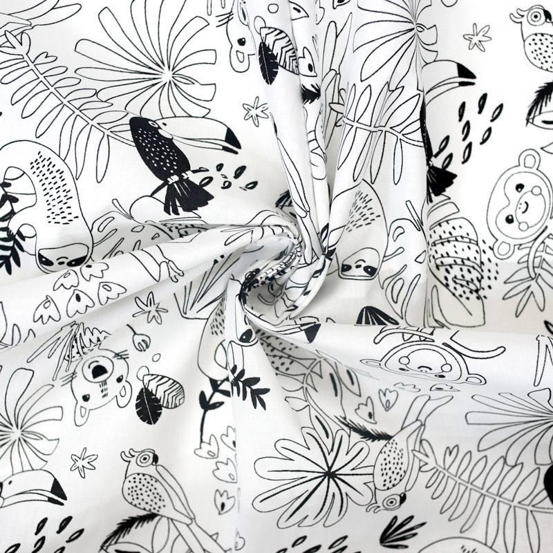 Coton à colorier motif jungle
