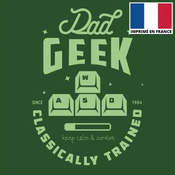 Coupon 45x45 cm toile canvas dad geek vert