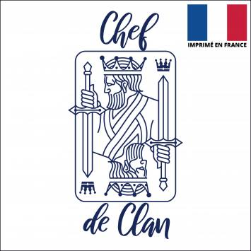 Coupon 45x45 cm toile canvas chef de clan