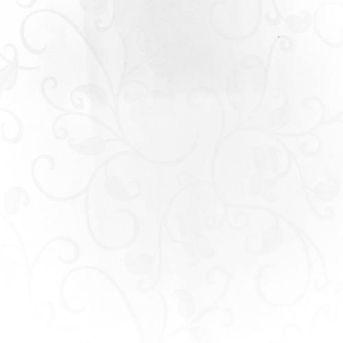 Tissu jacquard blanc anti-tâche motif arabesque grande largeur