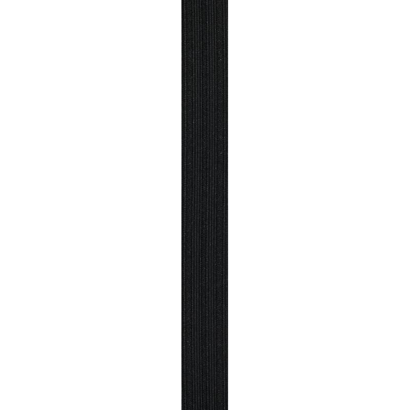 Elastique noir gaufré 20 mm