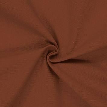 Toile coton marron châtaigne grande largeur