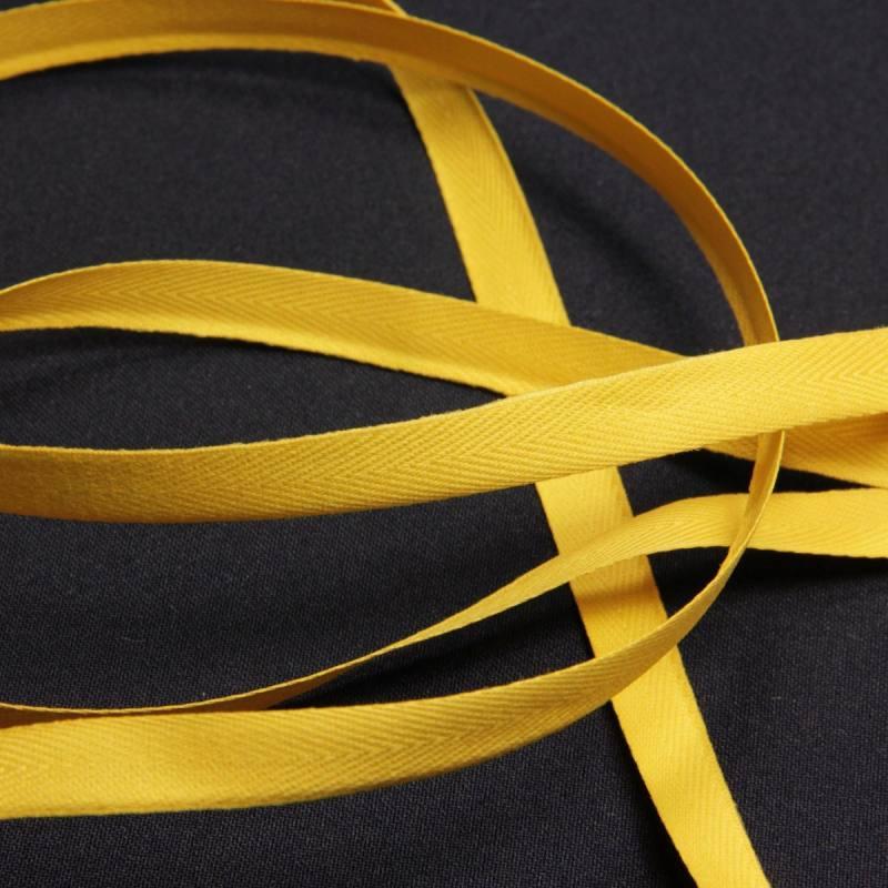 ruban serg jaune 11 mm mercerie en ligne mercerie pas cher. Black Bedroom Furniture Sets. Home Design Ideas