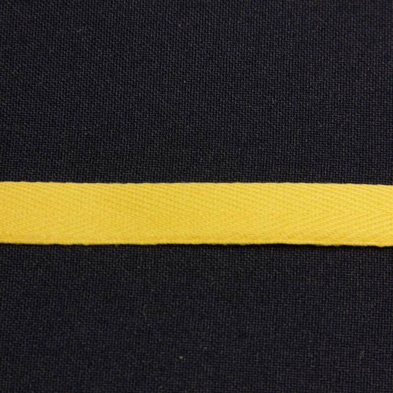 Ruban sergé jaune11 mm