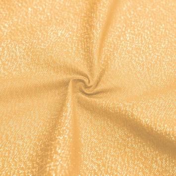 Toile polycoton jaune fil doré