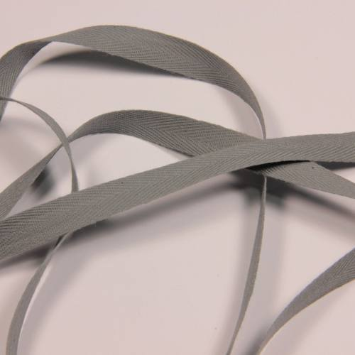 Ruban sergé gris 11 mm