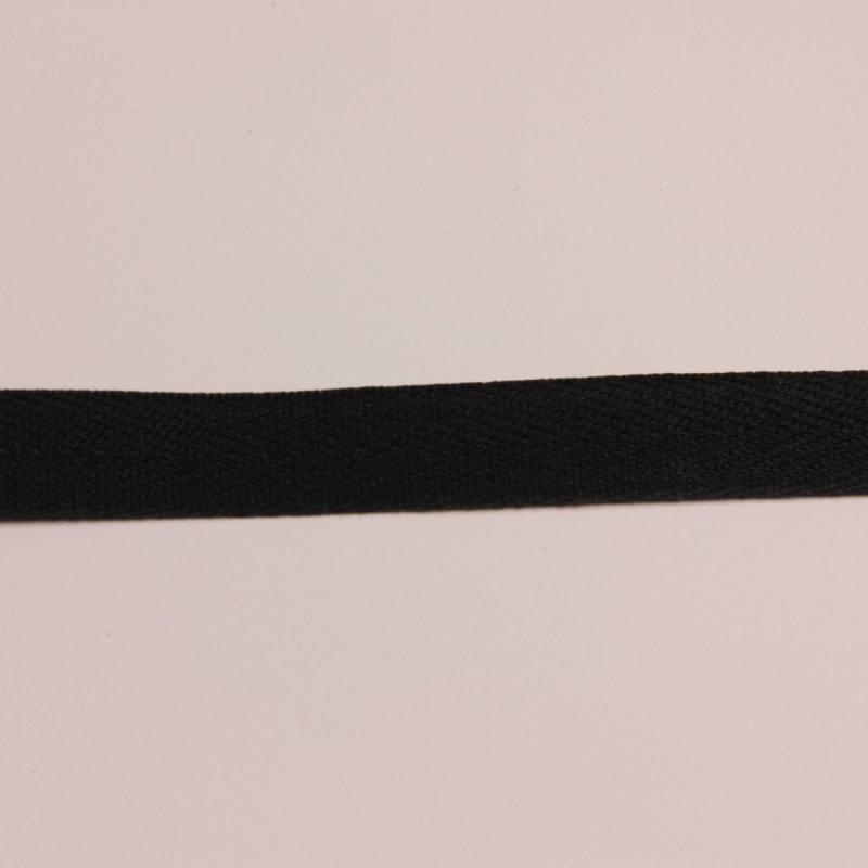 Ruban sergé noir 11 mm