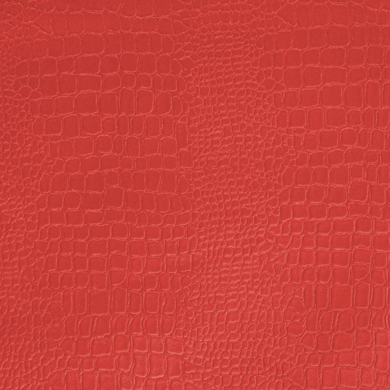 Simili cuir croco rouge
