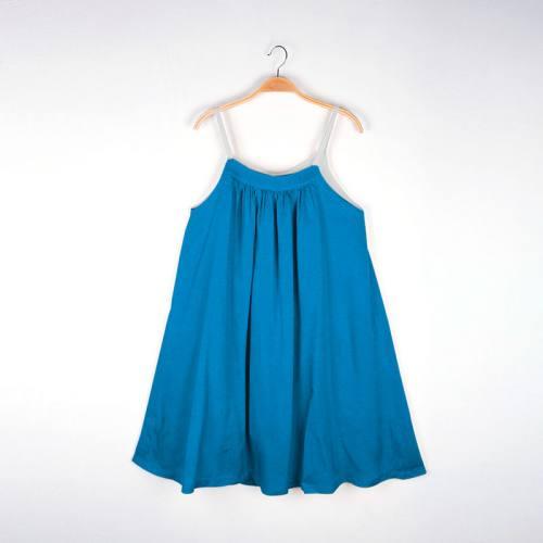 Coton bleu azur uni oeko-tex