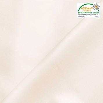 Simili cuir extérieur blanc cassé