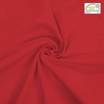coupon - Coupon 43cm - Burlington infroissable Oeko-tex rouge carmin
