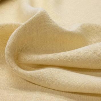 Toile de jute blanc cassé fil doré