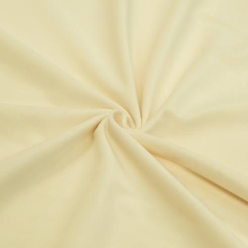 Tissu velours crème