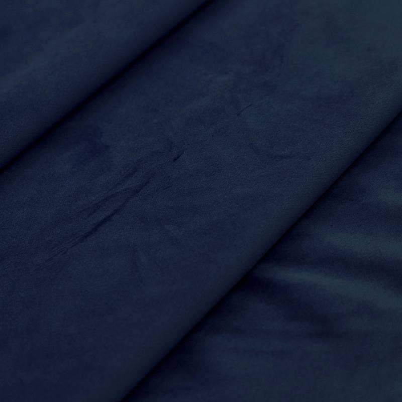 Coupon de tissu bleu marine foncé doublure polyester