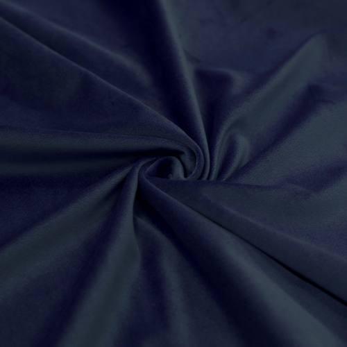 Tissu velours bleu foncé