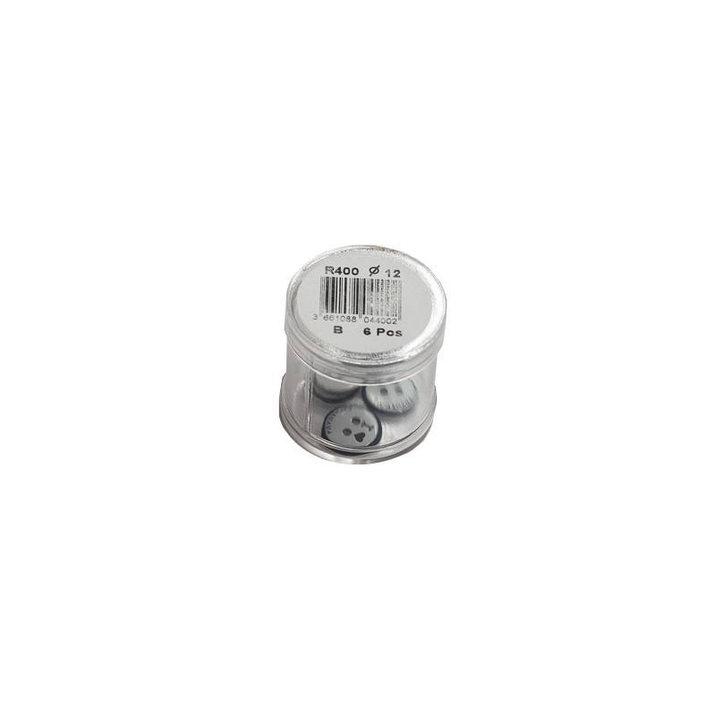Bouton blanc ancre rond 2 trous 12mm