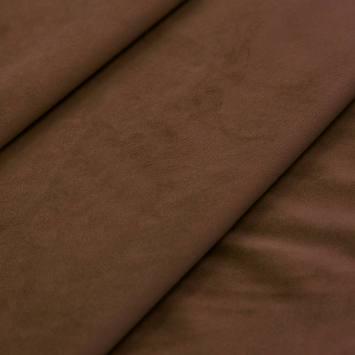 Tissu velours noisette