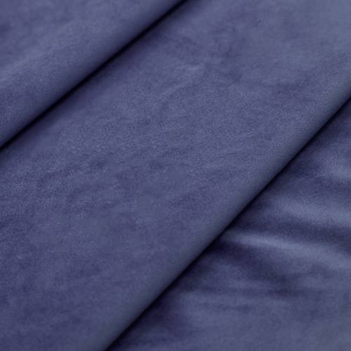 Tissu velours bleu jean