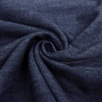 Jacquard épais bleu marine effet velours