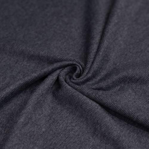 Jersey côtelé gris chiné