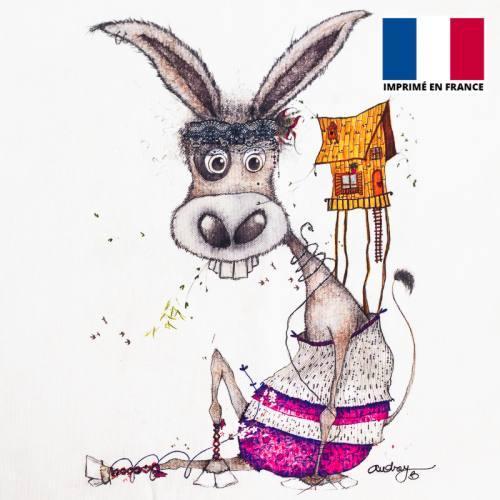 Coupon motif âne - Création Audrey Baudo