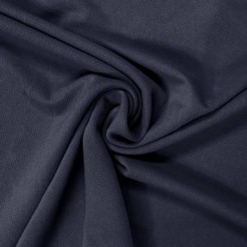 coupon - Coupon 55cm - Tissu crêpe satiné bleu marine