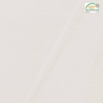 coupon - Coupon 37cm - Double gaze unie blanc optique