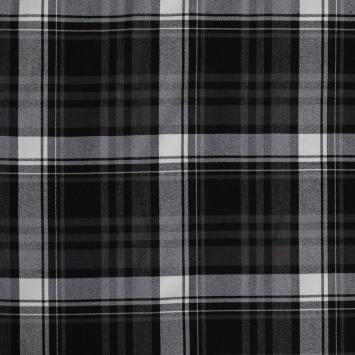 Tissu tartan blanc et noir